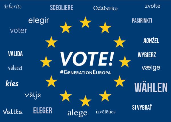 Postkarte VOTE! (50 Stück)