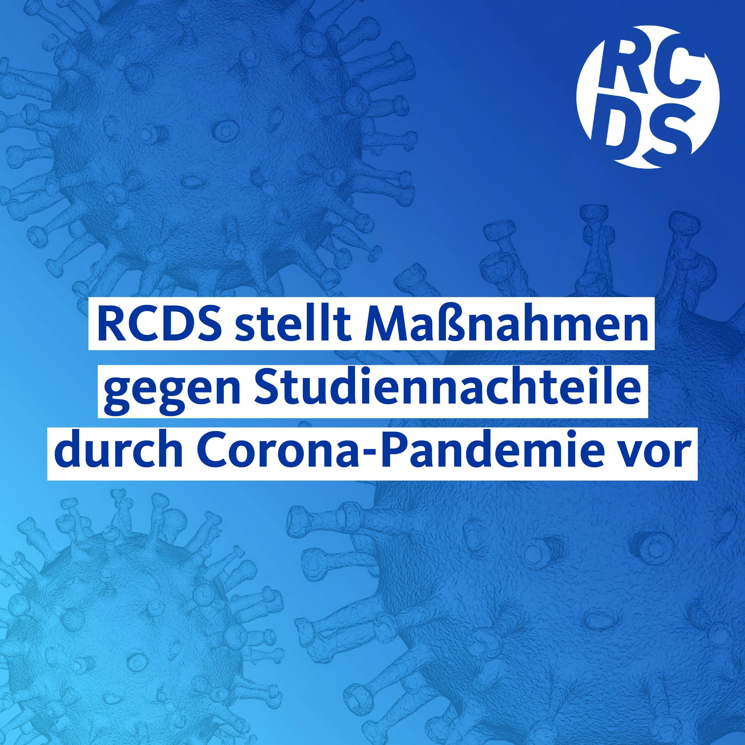 RCDS-Maßnahmenpapier zur Corona-Krise